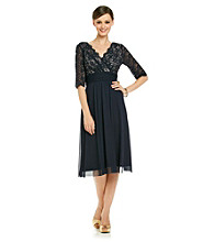 Jessica Howard® Surplice Lace Bodice Dress