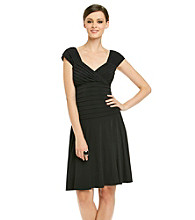 London Times® Shutter Knit Dress