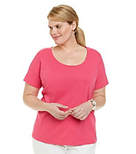 Jones New York Sport® Plus Size Short Sleeve Scoopneck Tee