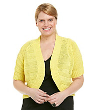 Calvin Klein Plus Size Dolman Sleeve Solid Color Shrug