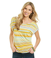 Nine West Vintage America Collection® Petites' Freesia Cuffed Short Sleeve Tee
