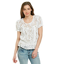 Nine West Vintage America Petites' Kacy Lace Peasant Top