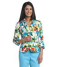 Notations® Petites' One Button Malibu Print Jacket