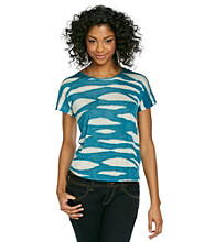 Kensie® Animal Striped Tee