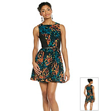 Kensie® Leaves Printed Dress