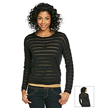 Olive & Oak Outfitters® Shadow Striped Sweater with Back Buttons