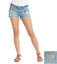 Wallflower Vintage® Juniors' Destructed Light Shorts