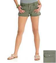 Blue Spice® Juniors' Twill Roll Cuff Cargo Shorts