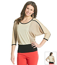 XOXO® Juniors' Colorblock Dolman Sweater