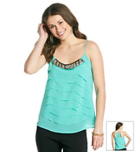 XOXO® Juniors' Tiered Beaded Cami