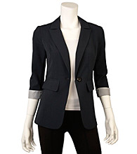 A. Byer Juniors' Cuffed Sleeve Jacket