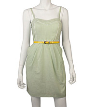 A. Byer Juniors' Belted Dress