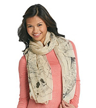 The Accessory Collective Juniors' Pretty Skull Print Fashion Scarf