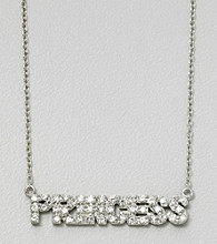 "Designs by FMC 18"" Sterling Silver Cubic Zirconia ""Princess"" Necklace"