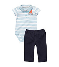 Carter's® Baby Boys' Blue 2-pc. Striped Polo Set