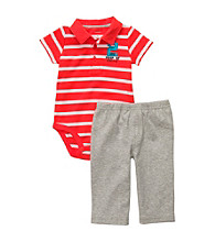 Carter's® Baby Boys' Red 2-pc. Striped Polo Set