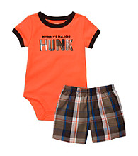 Carter's® Baby Boys' Orange Major Hunk Shorts Set