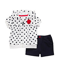Carter's® Baby Girls' White/Navy 2-pc. Polka-Dot 4th of July Cardigan Set