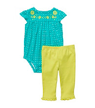 Carter's® Baby Girls' Turquoise/Lime 2-pc. Polka-Dot Set
