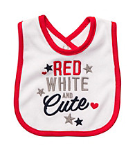 Carter's® Baby Girls' White 4th of July Bib