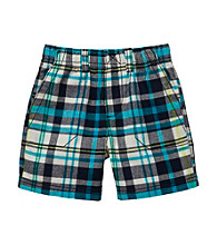 Carter's® Baby Boys' Blue Plaid Pullover Shorts
