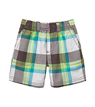 Carter's® Baby Boys' Grey Plaid Woven Pullover Shorts