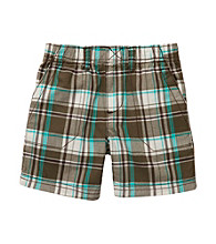 Carter's® Baby Boys' Olive Plaid Woven Pullover Shorts
