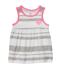 Carter's® Baby Girls' Grey Striped Swing Tank