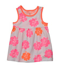 Carter's® Baby Girls' Pink/Grey Floral Swing Tank