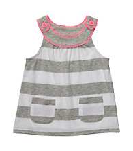 Carter's® Baby Girls' Grey/White Striped Babydoll Tank