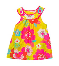 Carter's® Baby Girls' Yellow Woven Floral Babydoll Tank