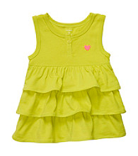 Carter's® Baby Girls' Lime Green Ruffled Tank Top