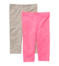 Carter's® Baby Girls' Pink/Grey 2-pk. Capri Leggings