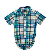 OshKosh B'Gosh® Baby Boys' Blue Plaid Woven Bodysuit