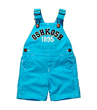 OshKosh B'Gosh® Baby Boys' Bright Blue Logo Shortall