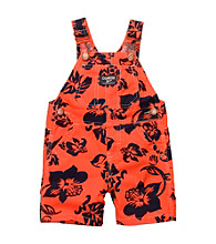 OshKosh B'Gosh® Baby Boys' Orange Hibiscus Shortall
