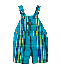 OshKosh B'Gosh® Baby Boys' Blue Plaid Shortall