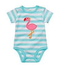 Carter's® Baby Girls' Blue/White Flamingo Bodysuit