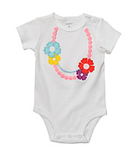 Carter's® Baby Girls' White Necklace Bodysuit