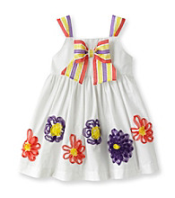 Heartworks Baby Girls' White Flower and Bow Dress