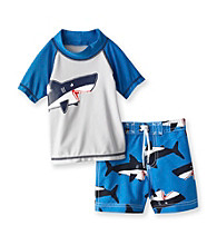 Carter's® Baby Boys' Grey/Blue 2-pc. Shark Rashguard