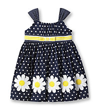 Heartworks Baby Girls' Navy/White Polka-Dot Sundress