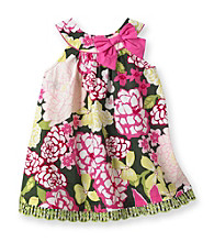 Heartworks Baby Girls' Pink/Green Floral Print Dress