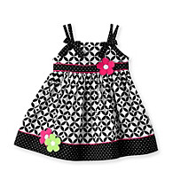 Heartworks Baby Girls' Black/White Geometric Print Sundress