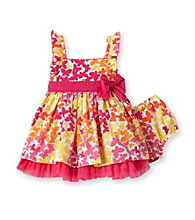 Little Me® Baby Girls' Pink Butterfly Print Dress Set