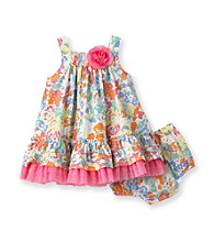 Little Me® Baby Girls' Pink Floral Monet Dress Set