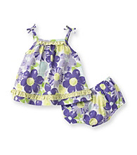 Little Me® Baby Girls' Purple Floral Sunsuit