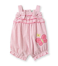 Little Me® Baby Girls' Pink Striped Butterfly Sunsuit