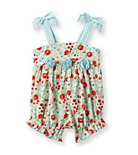 Little Me® Baby Girls' Turquoise Floral Sunsuit