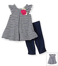 Little Me® Baby Girls' Navy Nautical Tuinc and Capris Set